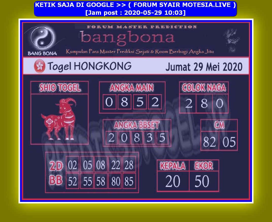Kode syair Hongkong Jumat 29 Mei 2020 89