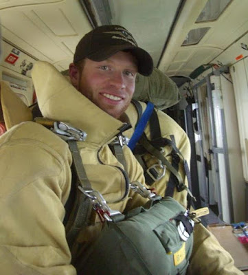 Luke Sheehy, a former member of the U. S. Forest Service Redding Smokejumpers and the BLM Diamond Mountain Hotshots, was killed in summer 2013 while fighting a fire in northeast California.