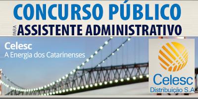 Apostila Concurso Celesc Distribuição 2016 Assistente Administrativo.