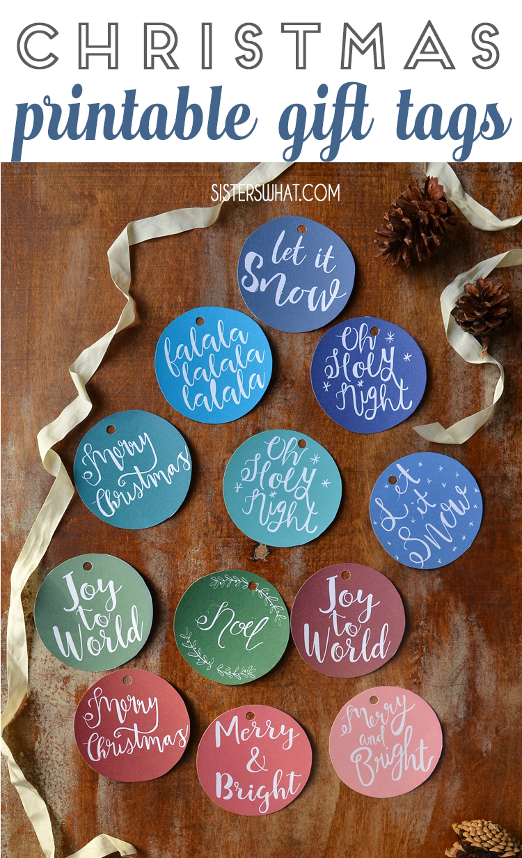 Christmas sayings gift tags printable