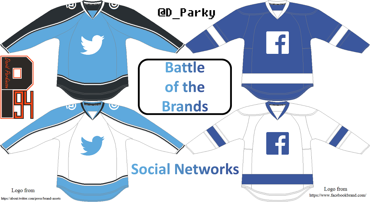 240c413fea3 The two big social networks. Both have very clean and simple branding and  that s reflected here on the jerseys. Facebook especially.