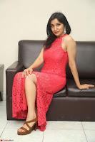 Sakshi Kakkar in Red Legsplit Sleeveless Gown at Dare movie Press meet ~  Exclusive 025.JPG