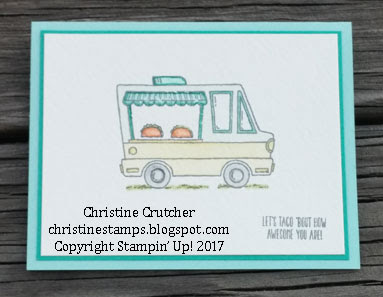 Stampin Up Tasty Trucks Stamp Set - 2017 Sale-A-Bration