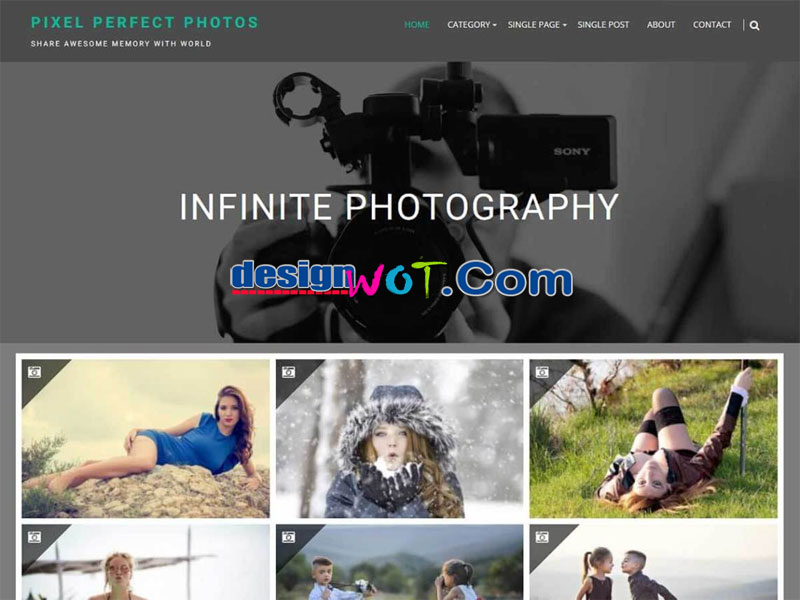 infinite photography wordpress theme