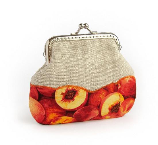 шитье. кошельки с фруктовыми тканями, sewing