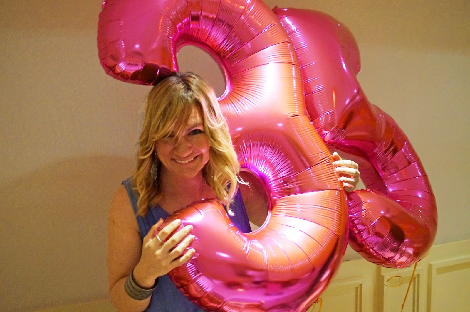 Pretty Pink Birthday Party Balloons