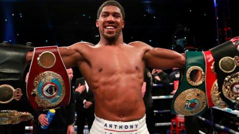 PHOTOS: Anthony Joshua wins in round seven by knockout