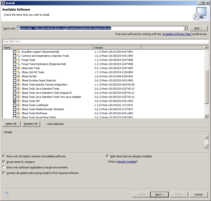 Enable autocomplete for JSF in Eclipse