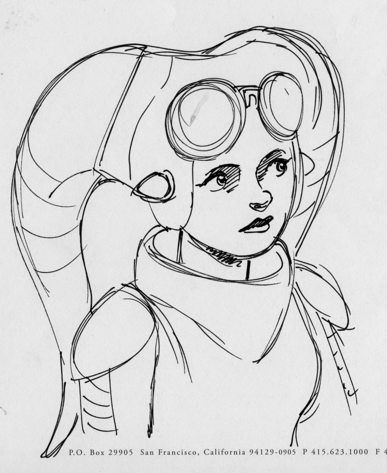 Hera concept art from Star Wars rebels