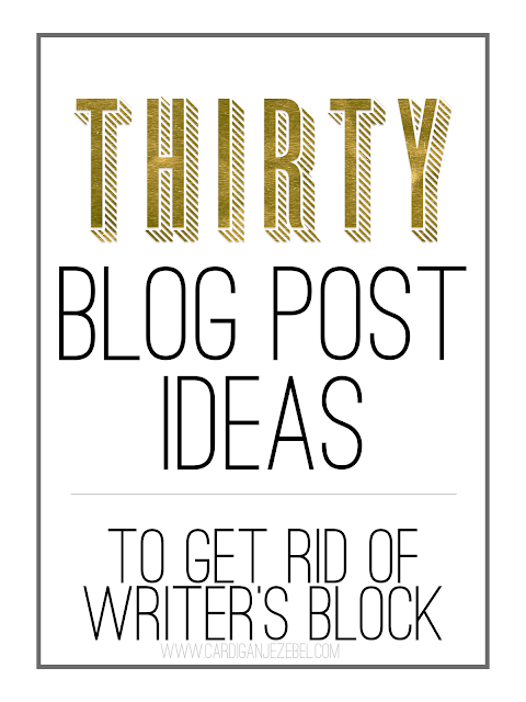 +30 Blog Post Ideas