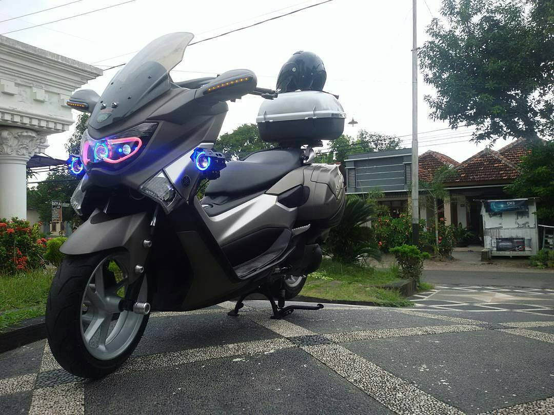 modifikasi motor touring  max
