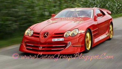 Red Gold Mercedes Benz SLR McLaren