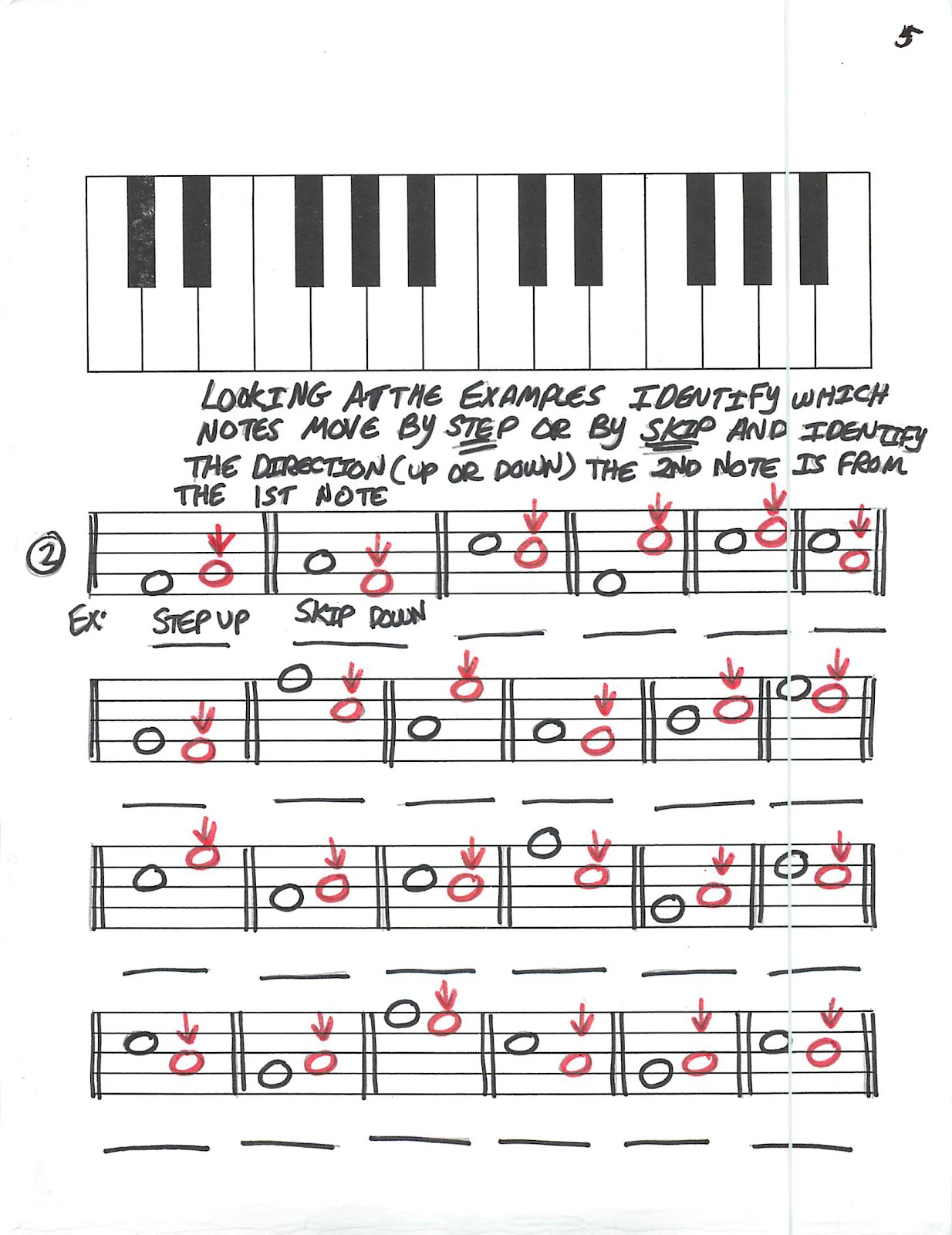 Miss Jacobson's Music: THEORY #5: STEPS and SKIPS