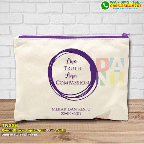 Pouch Blacu Lapis Spon Live Truth