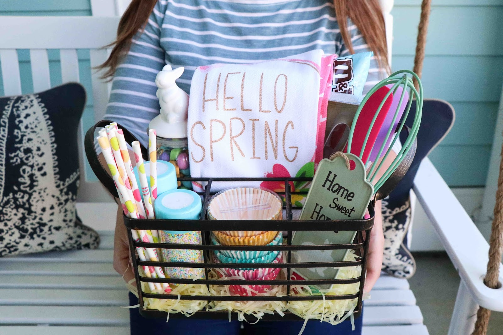 Borrowed heaven kitchen themed easter basket how will you be celebrating easter this year whats your favorite part of an easter basket negle Image collections
