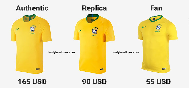7e354fa8e5a Let us compare Nike's new jersey technology for authentic jerseys with  Nike's 2018 World Cup replica kits and Nike's cheap supporters (Fan)  jerseys.