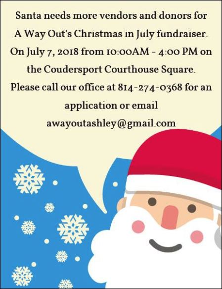 Vendors Wanted for Christmas in July