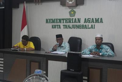 Plt. Kakankemenag Tanjungbalai Pimpin Rapat Koordinasi