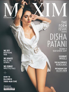 Disha Patani sizles in White for the cover page of Maxim India Novermber 2017