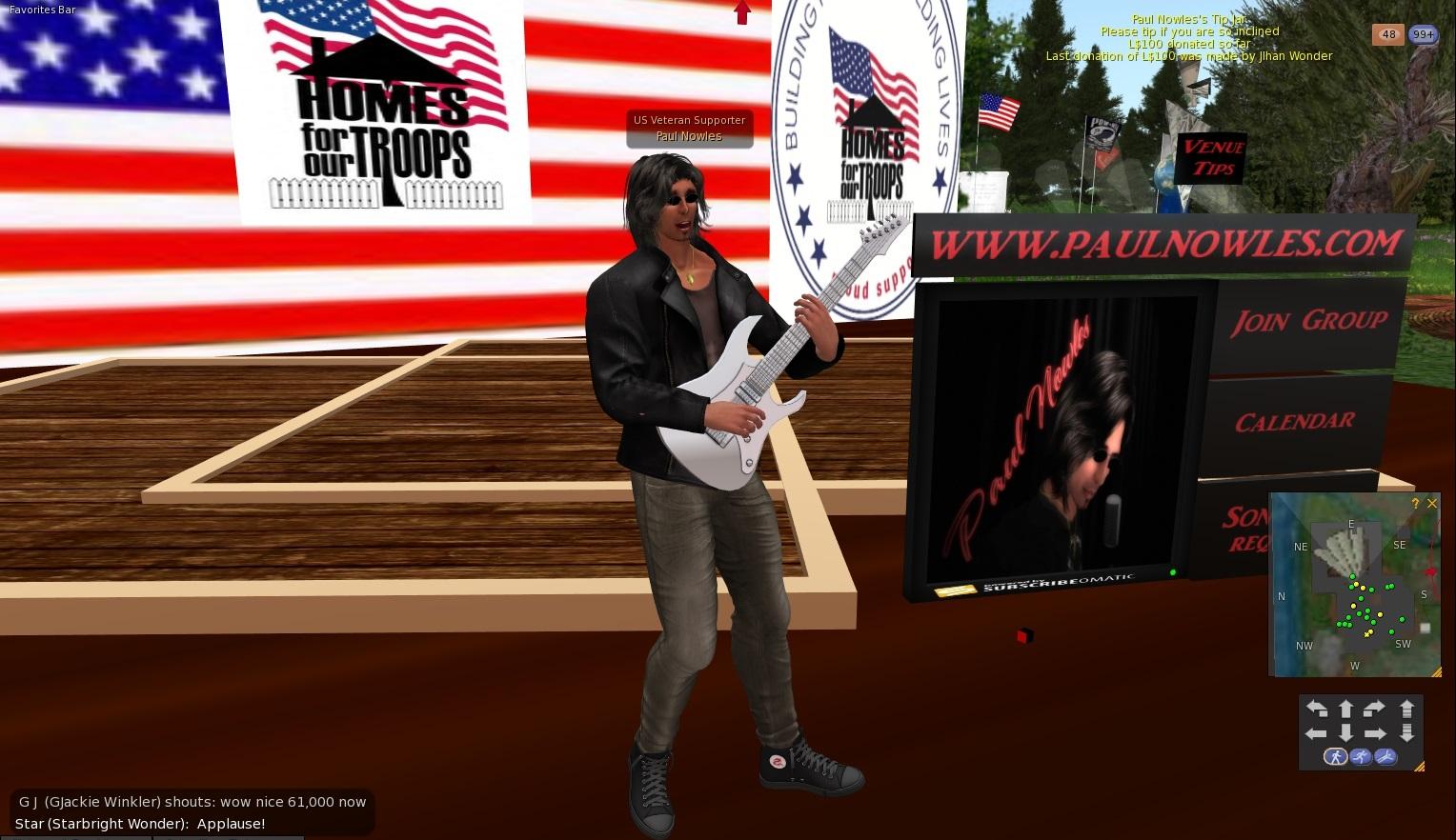 Second Life Newser: Veterans Isle Concert Raises Over