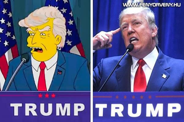 """A Simpson """"megjósolta"""" Donald Trump választását az USA elnökeként"""