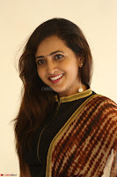 Lasya looks super cute in black choli Saree at Raja Meru Keka Press Meet ~  Exclusive 074.JPG