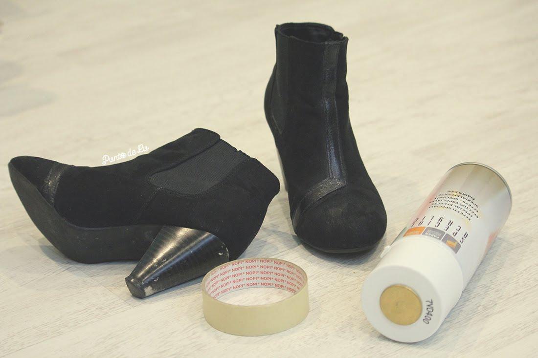 Recicla y dale vidilla a tus tacones - Materiales