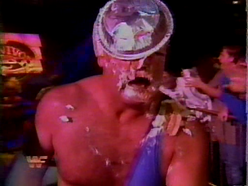 WWF / WWE - Survivor Series 1994: Jerry 'The King' Lawler got a pie in the face courtesy of Doink The Clown