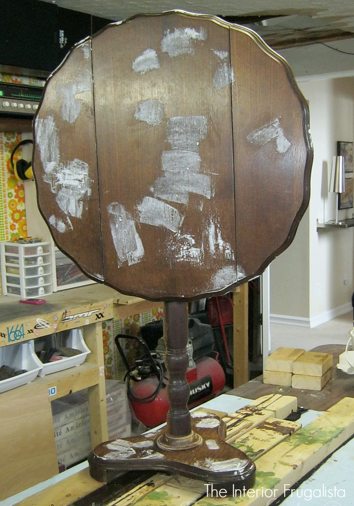 Curbside Tilt Top Wine Table Before