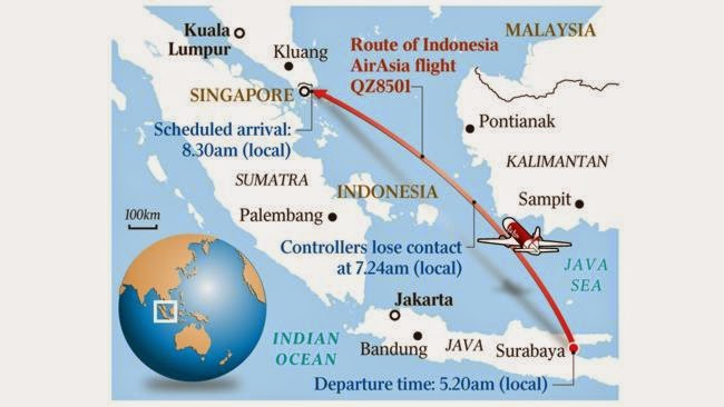 Under The Angsana Tree: AirAsia QZ8501 missing with 162 on board