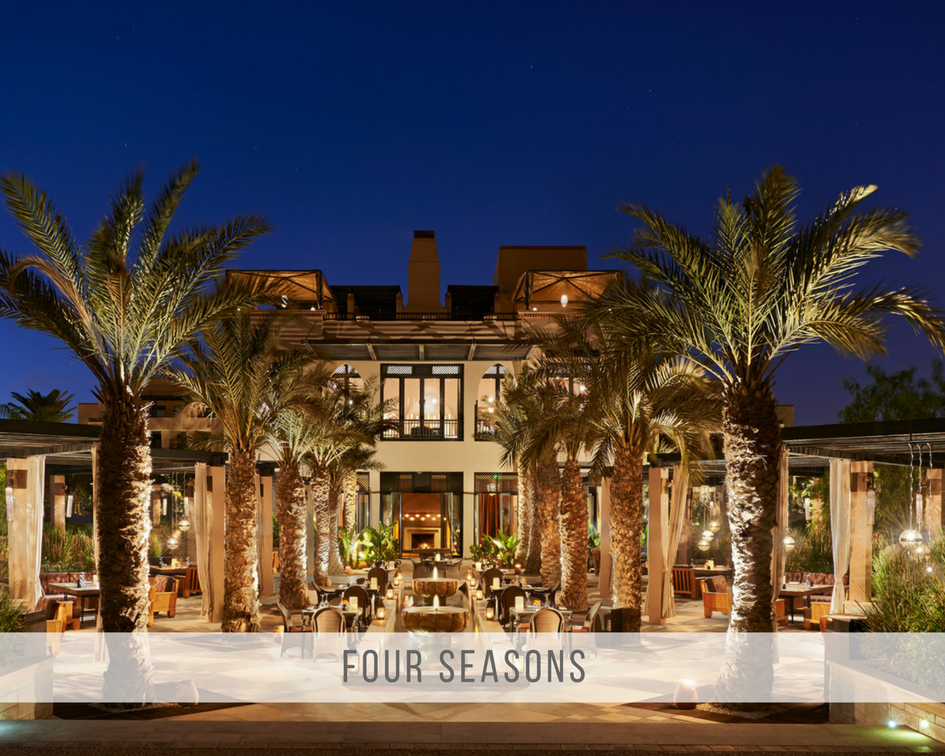Four Sesons, the resort just a little outside of the medina, and therefor offering freedom, space and loads of design.