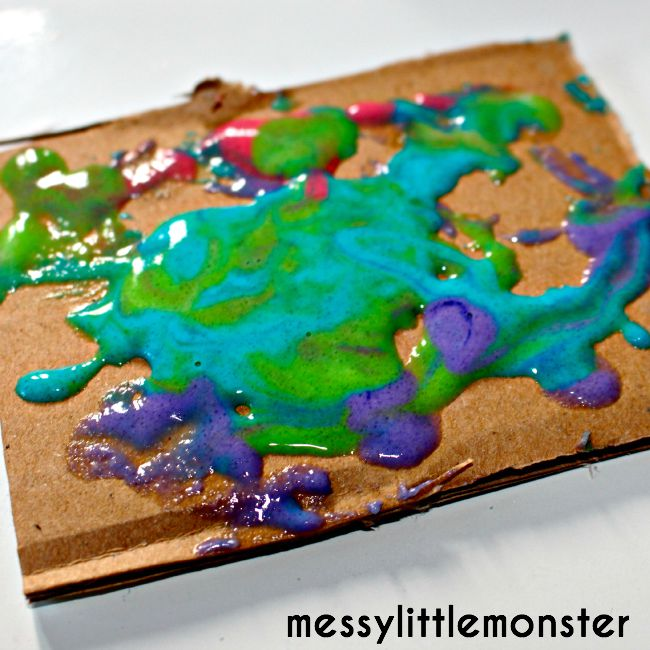 process art: homemade puffy paint recipe