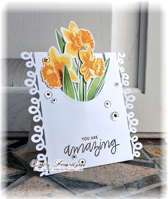 Sunny Studio Stamps: Daffodil Drams Card by Emily Lauritzen
