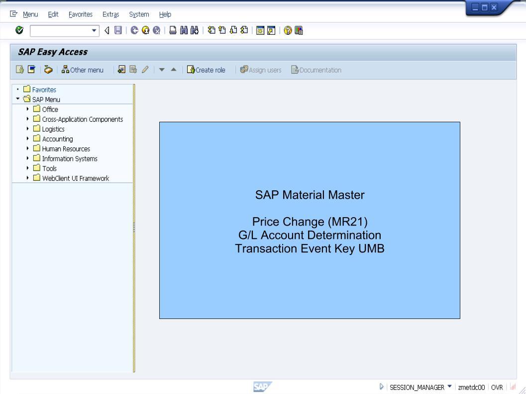 青蛙SAP分享 Learning & Examination: Material Master - MR21