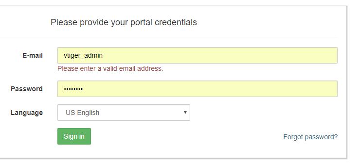 Random Contributions: Add customer portal to vtiger 7 1 0