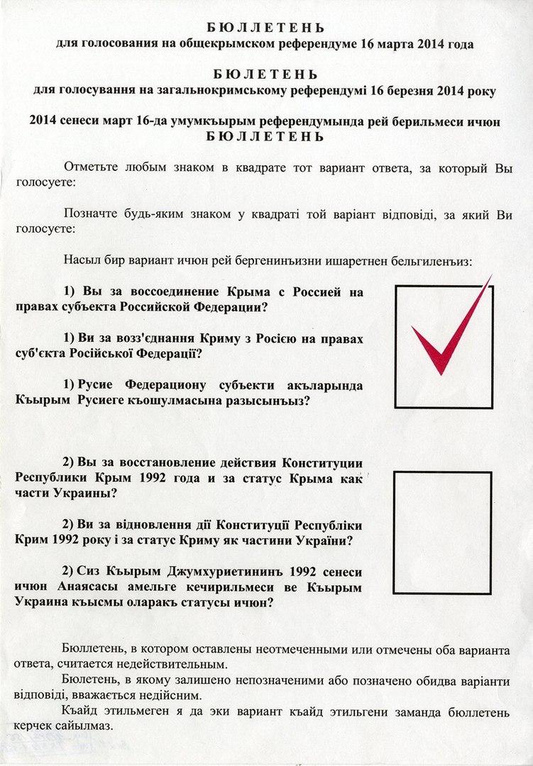 День в истории: референдум в Крыму