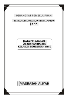 RPP Al-Qur'an Hadits Kelas XII MA KTSP Semester 1 dan 2
