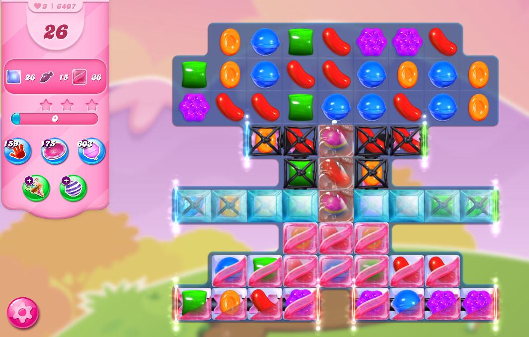 Candy Crush Saga level 6407