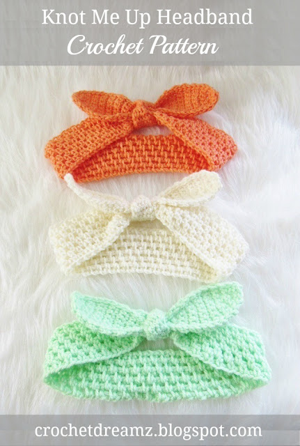 Free Crochet Pattern For Knotted Headband : Crochet Dreamz: Knot Me Up Headband, Free Crochet Pattern