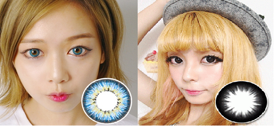 How to Wear Black & Blue Contacts Correctly