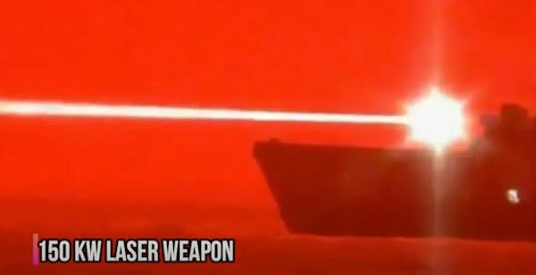 Κανόνι λέιζερ σε πολεμικό πλοίο καταρρίπτει drone σε μεγάλη απόσταση - Βίντεο