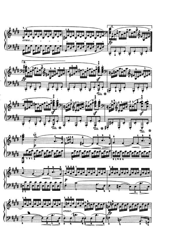 how to play beethoven moonlight sonata