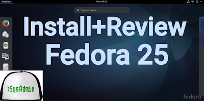 Fedora 25 Linux on VirtualBox
