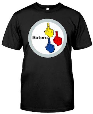 Pittsburgh Steelers Haters The Finger T Shirt Hoodie Sweatshirt