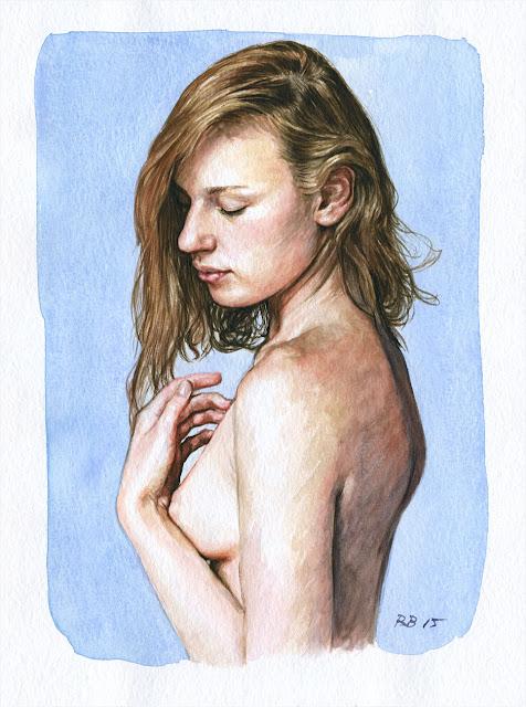 René Bui - Etude de nu à l'aquarelle 150135 - 2015