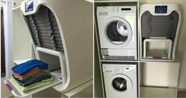 Mesin Cuci Canggih 9 Jutaan Ini Bisa Mencuci, Seterika, dan Melipat Pakaian