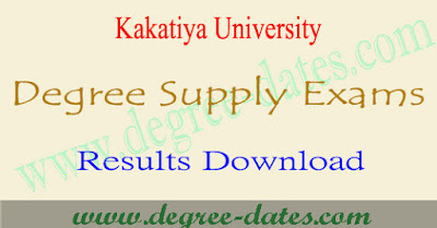 Ku Degree supply results 2019 Kakatiya ug 1st 2nd 3rd year result date