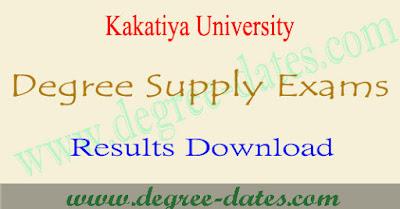 Ku Degree supply results 2017 Kakatiya ug 1st 2nd 3rd year result date