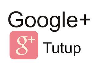 Tutup Google Plus