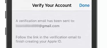 verify your apple aaccount